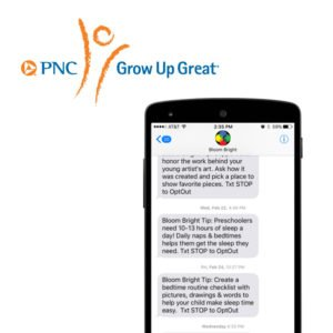 PNC Bank supports free texting program Bloom Bright