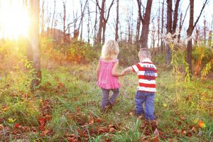 Fall Learning Child Care Leaves Outdoors